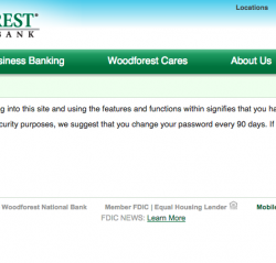 Woodforest login