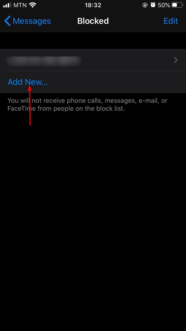 how do you block a text