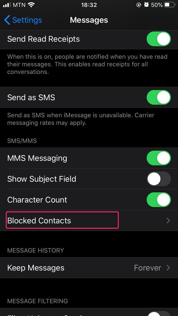 block texts